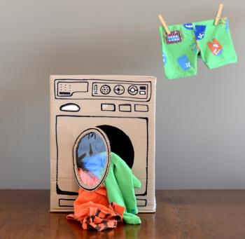 lavatrice cartone per bambini
