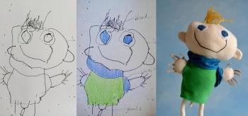 pupazzo bambini disegno