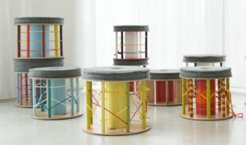 nanowo pouf multicolor
