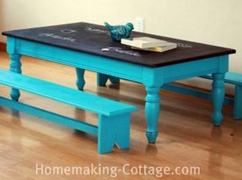 Tavolo e panca per bambini