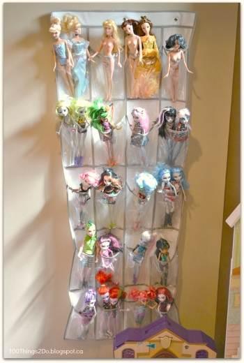 organizzare bambole